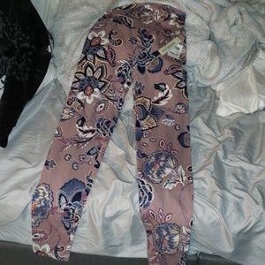 High waisted floral leggings NWT